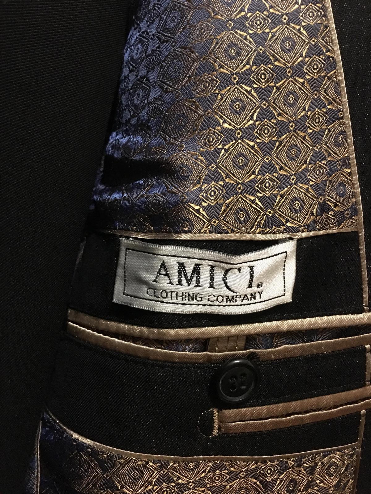 Oblek Amici čierny Slim Fit - Obrázok č. 2