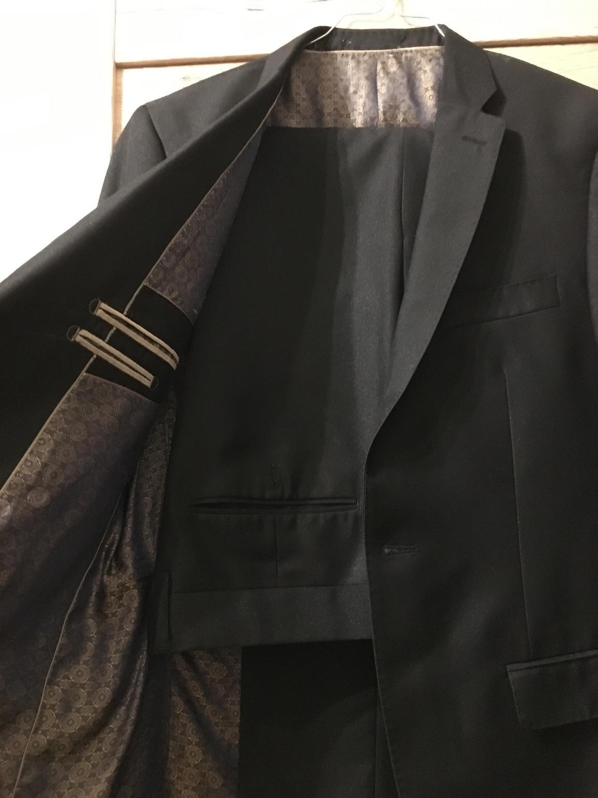 Oblek Amici čierny Slim Fit - Obrázok č. 1