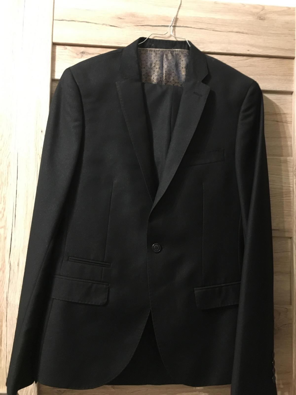 Oblek Amici čierny Slim Fit - Obrázok č. 3