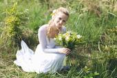 Originální ručně malované svatební šaty , 38