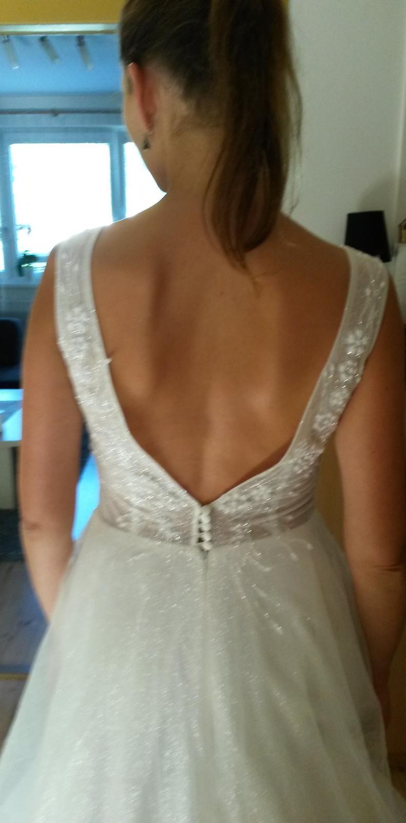 Predám svadobné šaty - Obrázok č. 2