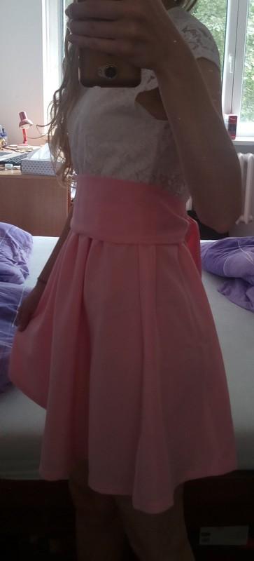 Růžovo bílé šaty - Obrázek č. 1