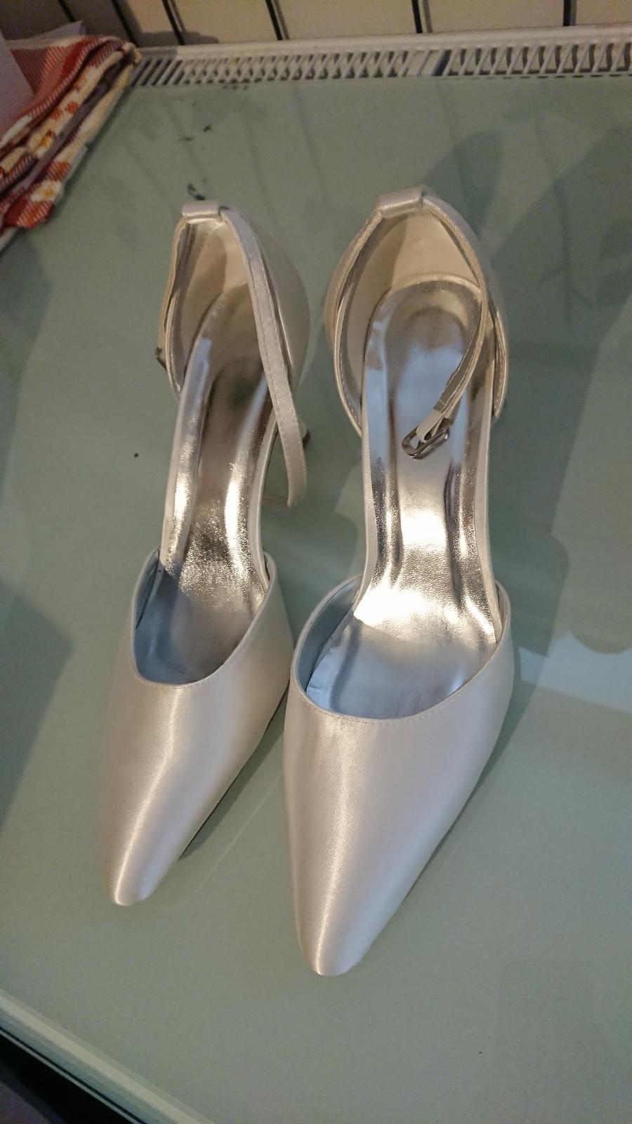 Svatební saténové boty - Obrázek č. 1