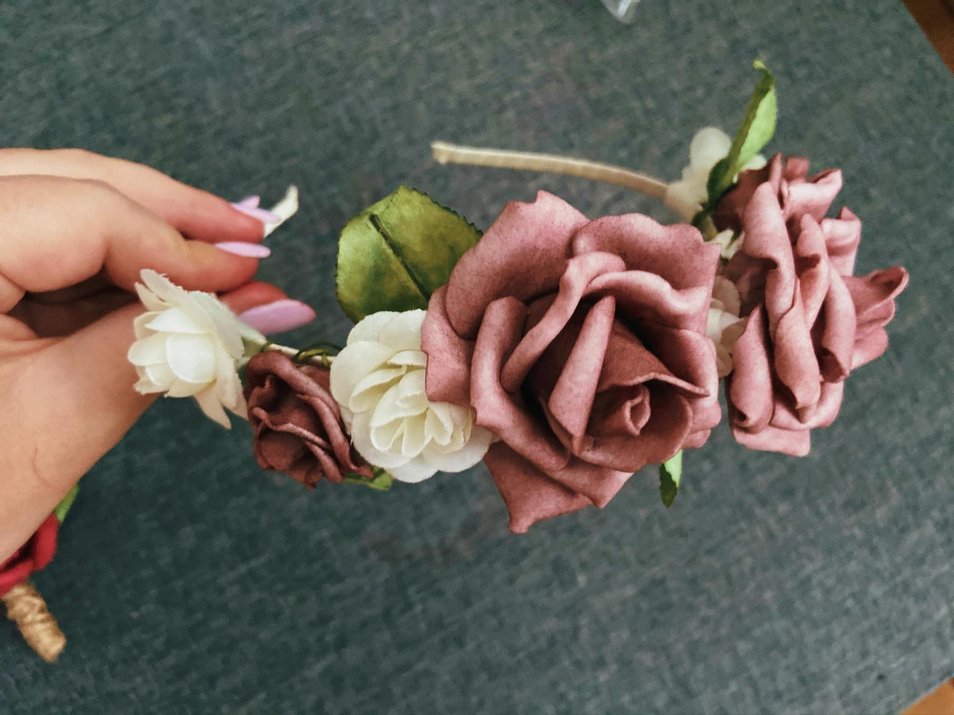 ❤︎M&T❤︎17.07.2021❤︎ - Kvetinková čelenka pre našu flower girl