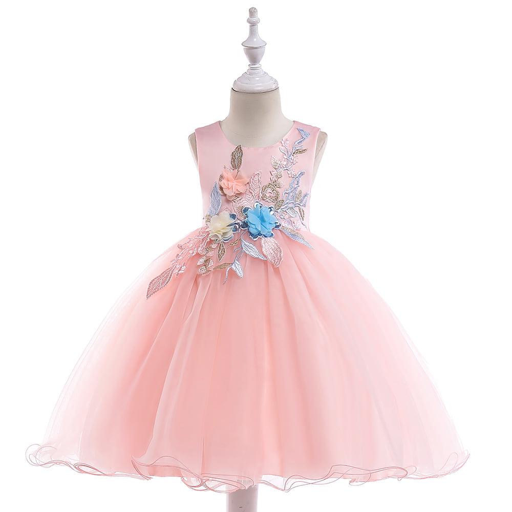 Detské šaty L5029 - naša 110, skladom - Obrázok č. 1