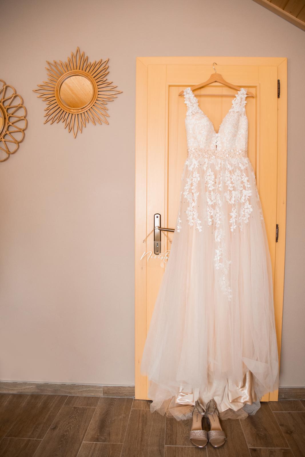 Boho svatební šaty vel. 38-40. - Obrázek č. 1