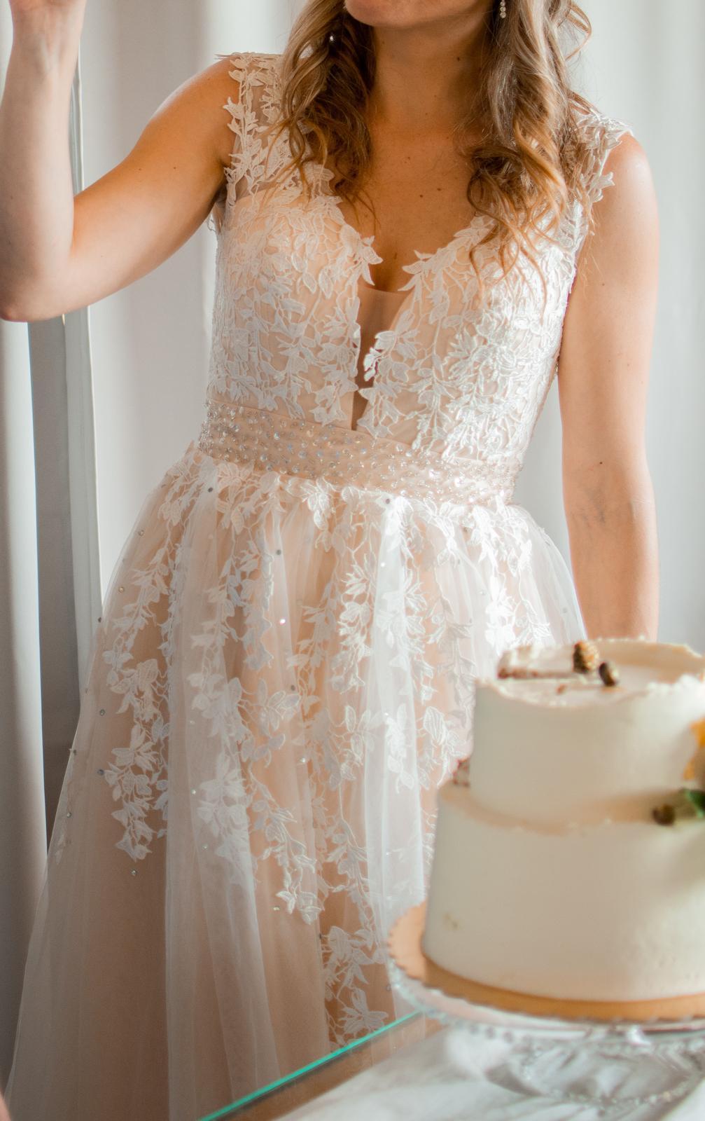 Boho svatební šaty vel. 38-40. - Obrázek č. 4