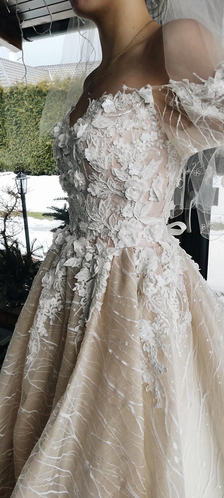 Predám nádherné svadobné šaty - Obrázok č. 3