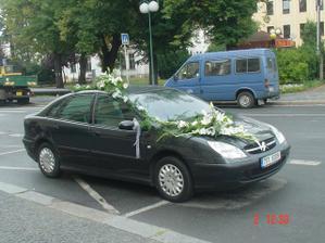 náš svatební vůz