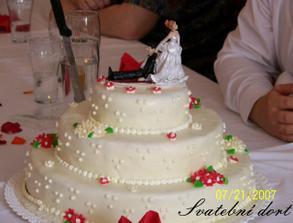 Svatební dortík, byl vynikající...
