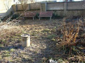 Konečne sa trochu oteplilo, takže hrable do ruky a čistila sa záhradka (aspoň trošku teda)