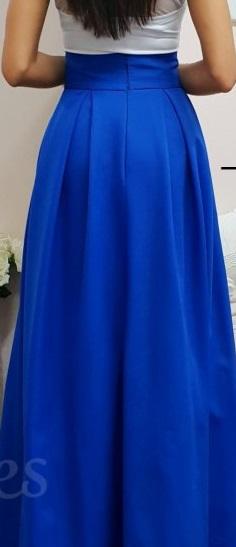 Nenosená dámska spoločenská sukňa s poštou, veľ. 44 - Obrázok č. 1