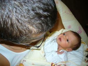 Eliška s tatínkem