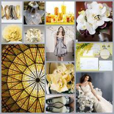 yellow - grey wedding