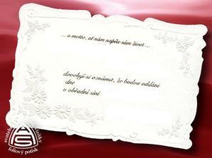 Toto je naše svatební oznámení, (vytištěné už máme doma)