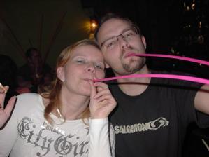 S mojim drahym na party v Jazz pube s mojimi uzasnymi byvalymi kolegami, za ktorymi mi je stale smutno:(