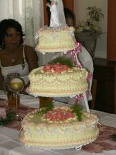 kamarádky dort