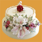 Inspirace - kdo by řekl, že je to medovník? a taky s orchidejí :-) ten chci jako hlavní dort :-)