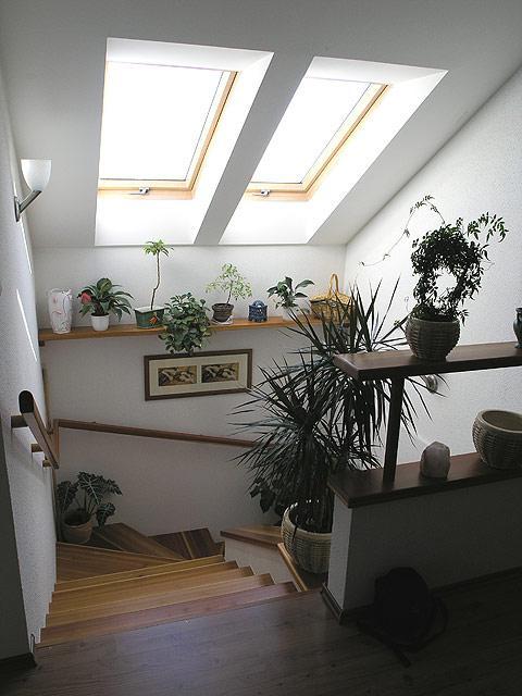 INSPIRACE - střešní okna budou pouze nad schodištěm