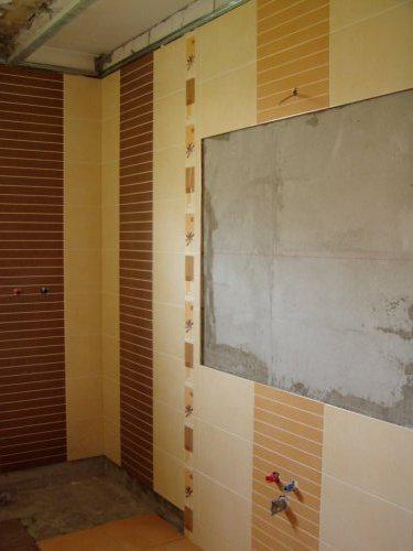 Prestavba kupelky - tu bude zrkadlo a umývadlo