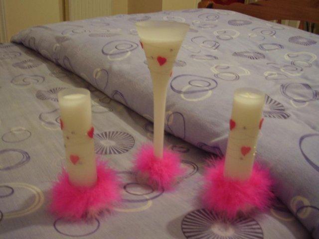 Aďka a Peťko :-) 2. august 2008 :-) - Troska som sviecky upravila,su teraz viac vyrazne