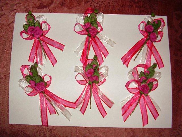 Aďka a Peťko :-) 2. august 2008 :-) - Pierka pre rodicov,vlastna vyroba