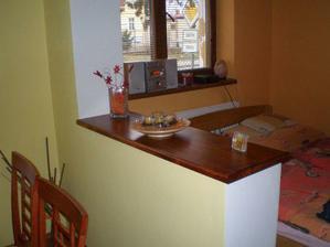Zase další kousek práce - předělení mezi kuchyní a obývákem