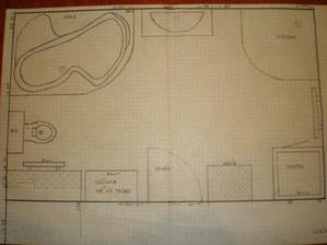 Toto je naše naplánovaná koupelna - naše práce :-).