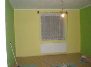 16.4.2008 konečně máme hotovou ložnic, zbývá jen stěhování, vestavěná skříň a dveře :-)).