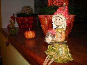 A podzimní výzdoba v kuchyni.