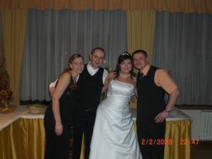 Peter a Katka, Peťo môže za to, že sme spolu :) tak dík