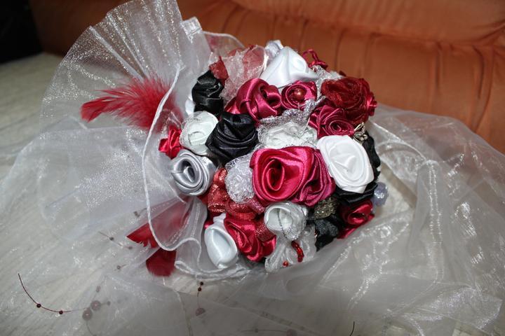 Svadobné dekorácie - Svadobná kytica - Veronika