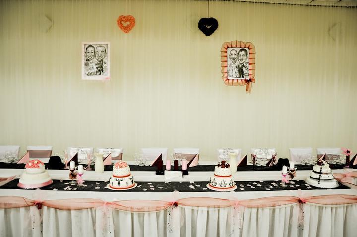 Svadobné dekorácie - Hlavný svadobný stôl