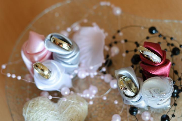 Svadobné dekorácie - Podnos na obrúčky