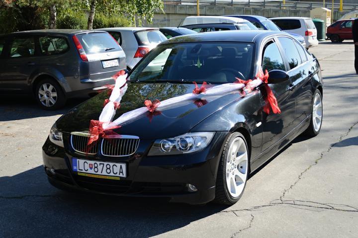 Svadobné dekorácie - Auto ženícha Zdenka