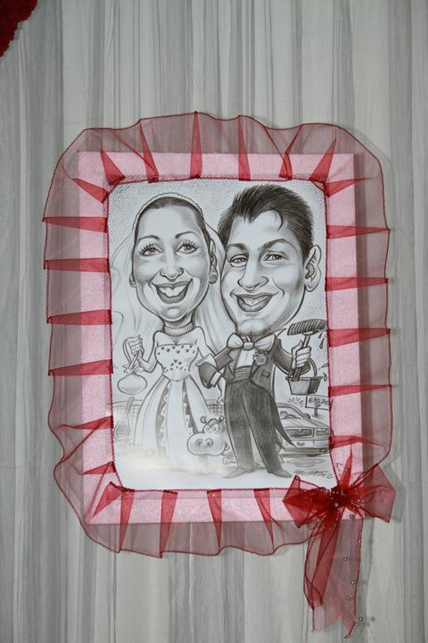 Svadobné dekorácie - Svadobné karikatúry - Veronika a Zdenko :-)