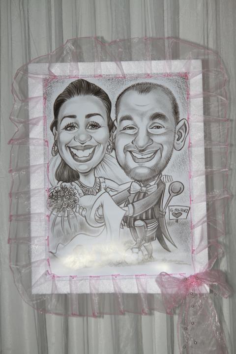 Svadobné dekorácie - Svadobné karikatúry  Dominika a Majo :-)