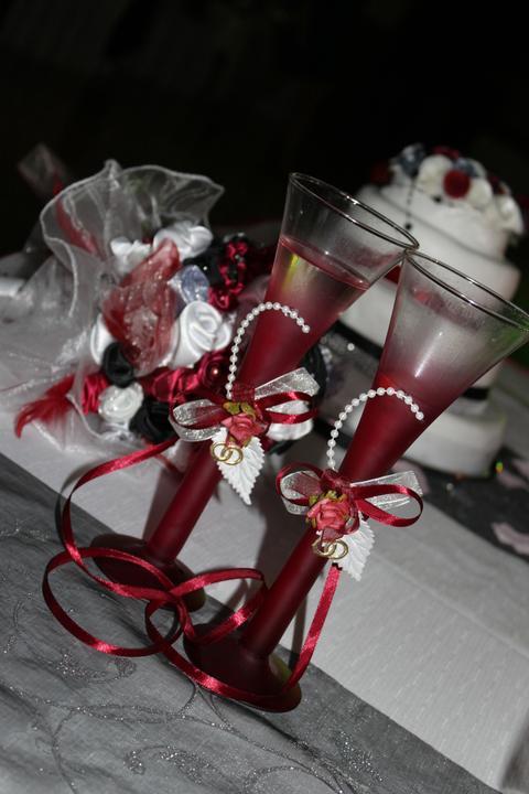 Svadobné dekorácie - Svadobné poháre V&Z