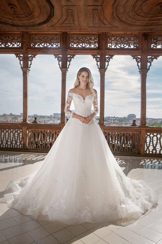 Eva Grandes princeznovské svatební šaty - Alison celá svatební šaty