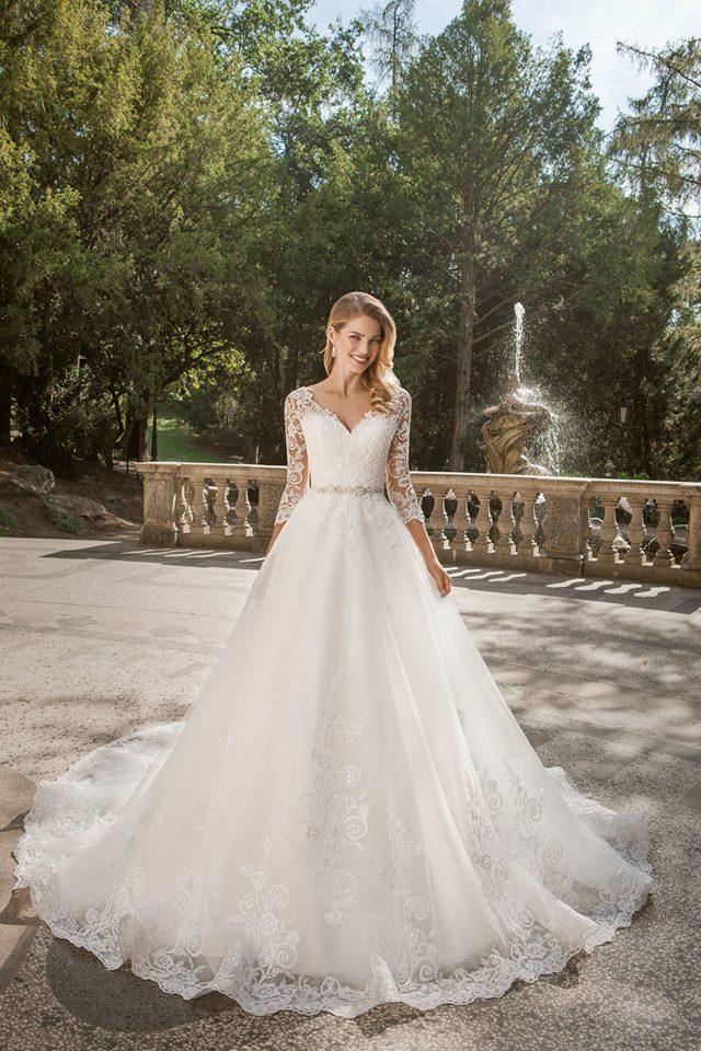 Eva Grandes princeznovské svatební šaty - Belinda celková svatební šaty