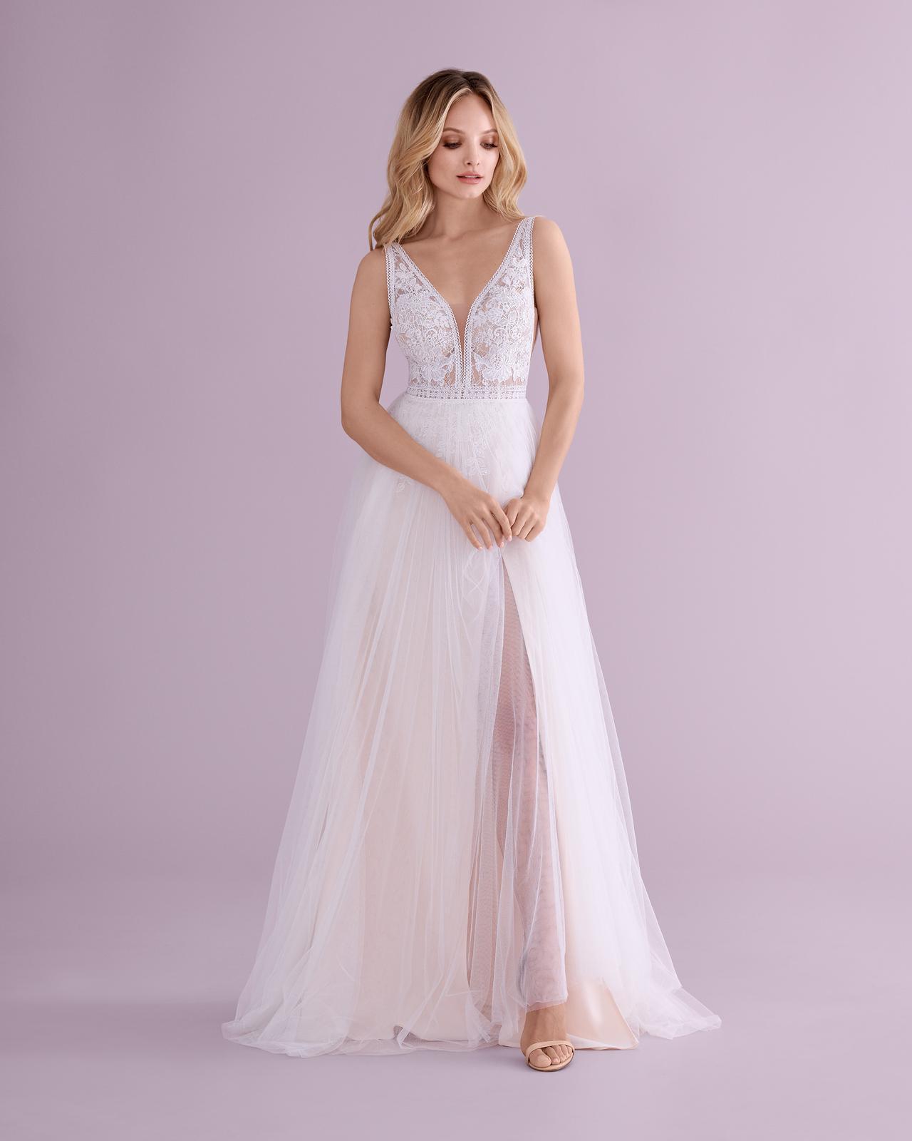 svatbyzbraslav - E-4553 jemné svatební šaty v bohostylu