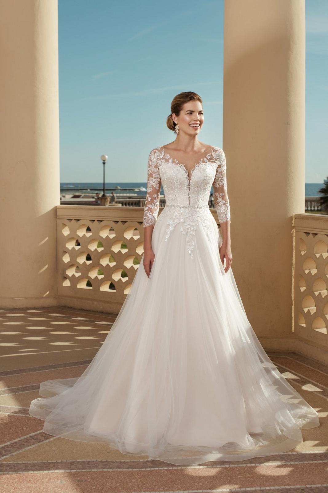 Eva Grandes 2021 svatební šaty na míru - Claris - Eva Grandes