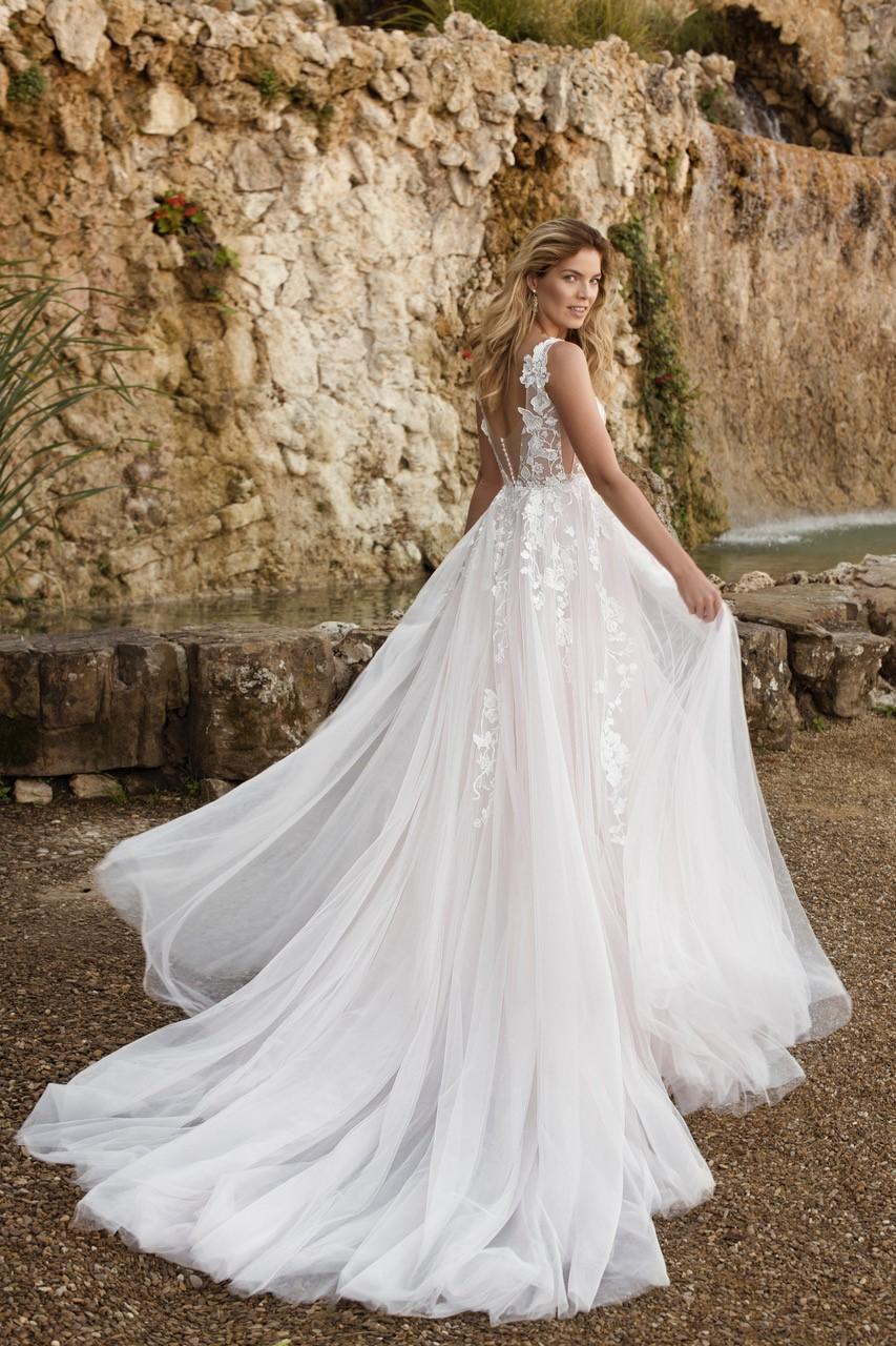Eva Grandes 2021 svatební šaty na míru - Megan - Eva Grandes zada