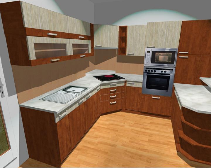 Kuchyňské linky....realizace - Grafika na linku.