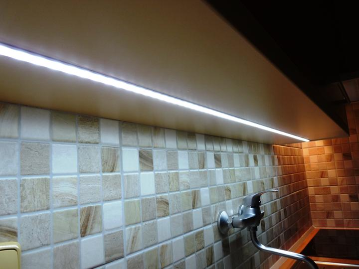 Kuchyňské linky....realizace - Studené vysokosvítivé LED osvětlení