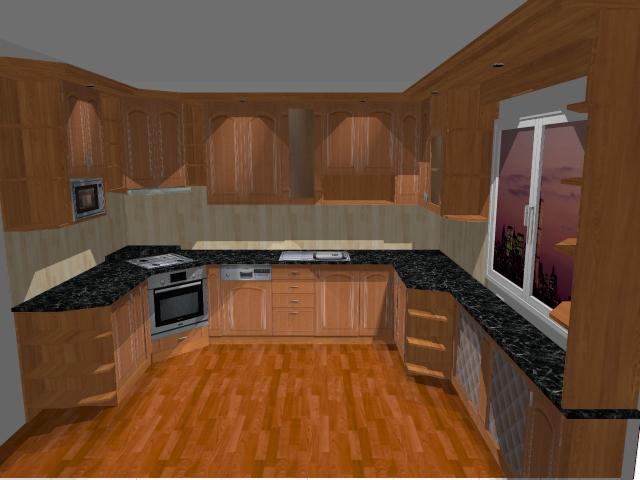 Kuchyňské linky....realizace - Ukázka vizualizace