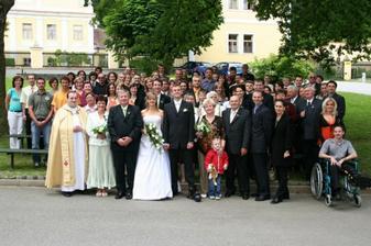 naši svatební hosté a kamarádi