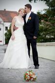 Svatební šaty s vlečkou 36-40, 40
