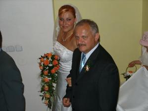 ..s mým milovaným tatínkem..