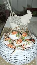 Dekupage vajíček.